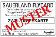 Sauerland FlyCard Zwei Tage